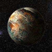3D alien planet model