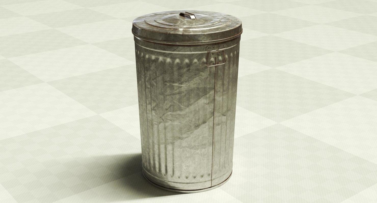 steel trash 3D model