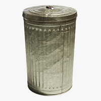 Steel Trash Can