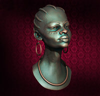 stl bust girl 3D model