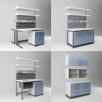 3D laboratory furniture set 1