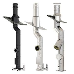 3D steel chimneys model