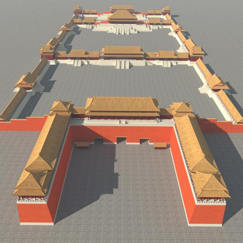3D forbidden city model