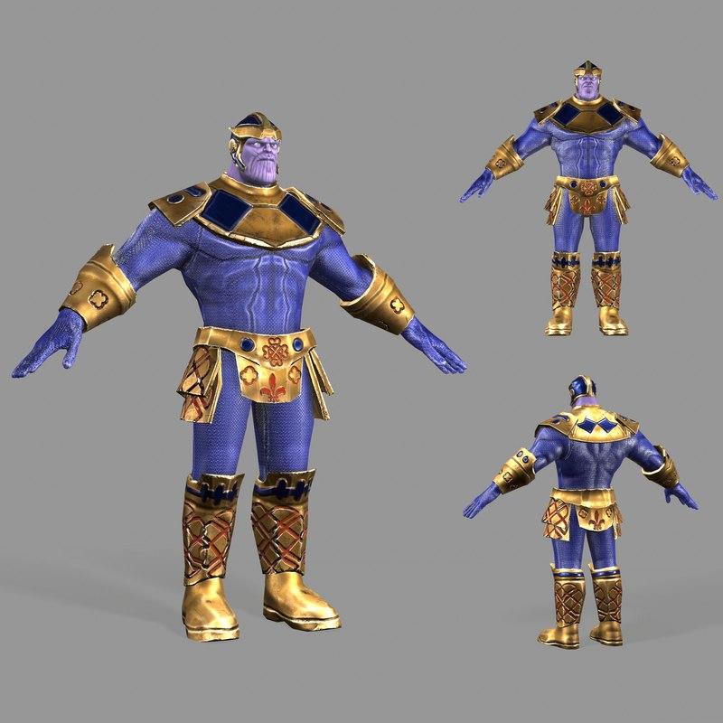 modeled thanos 3D