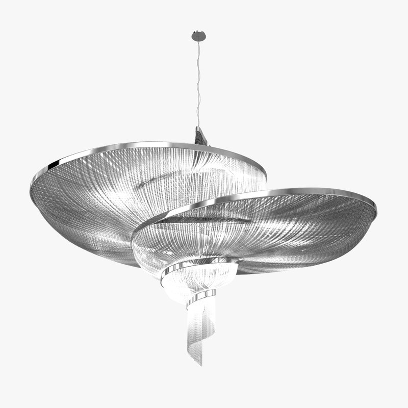 3D chandelier epoque
