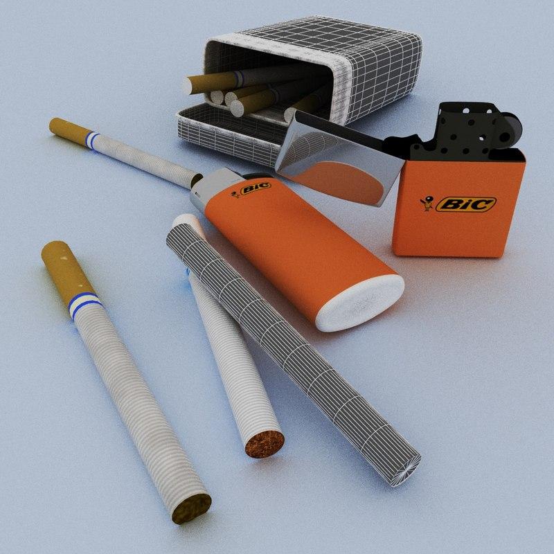 3D smoking modeled model