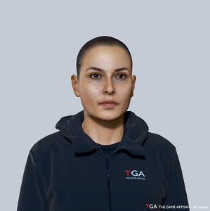 caucasian female head 3D model