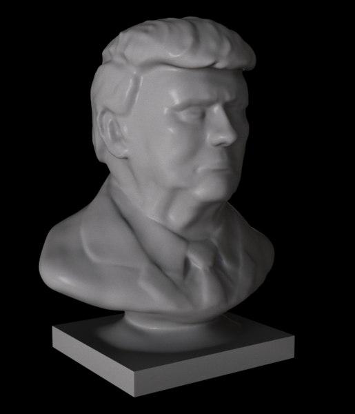 donald trump bust 3D