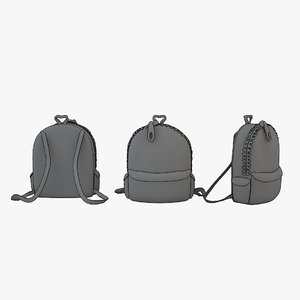 bag cartoon 3D model