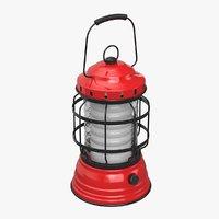 3D model lantern camp