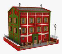 red building 3D model