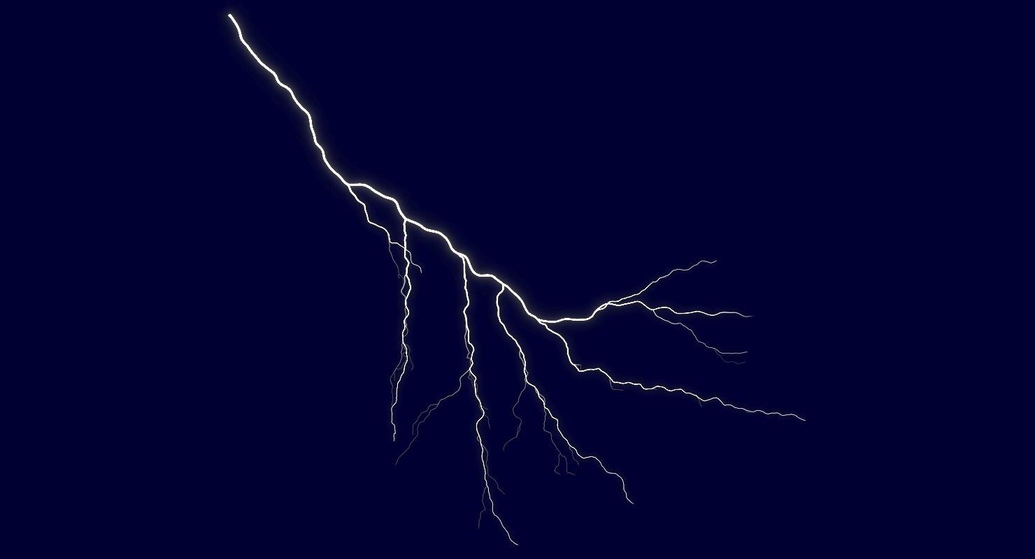 realistic lightning 3D model