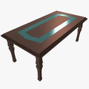 dining table frosted glass 3D