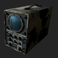 old rusted oscilloscope 3D model