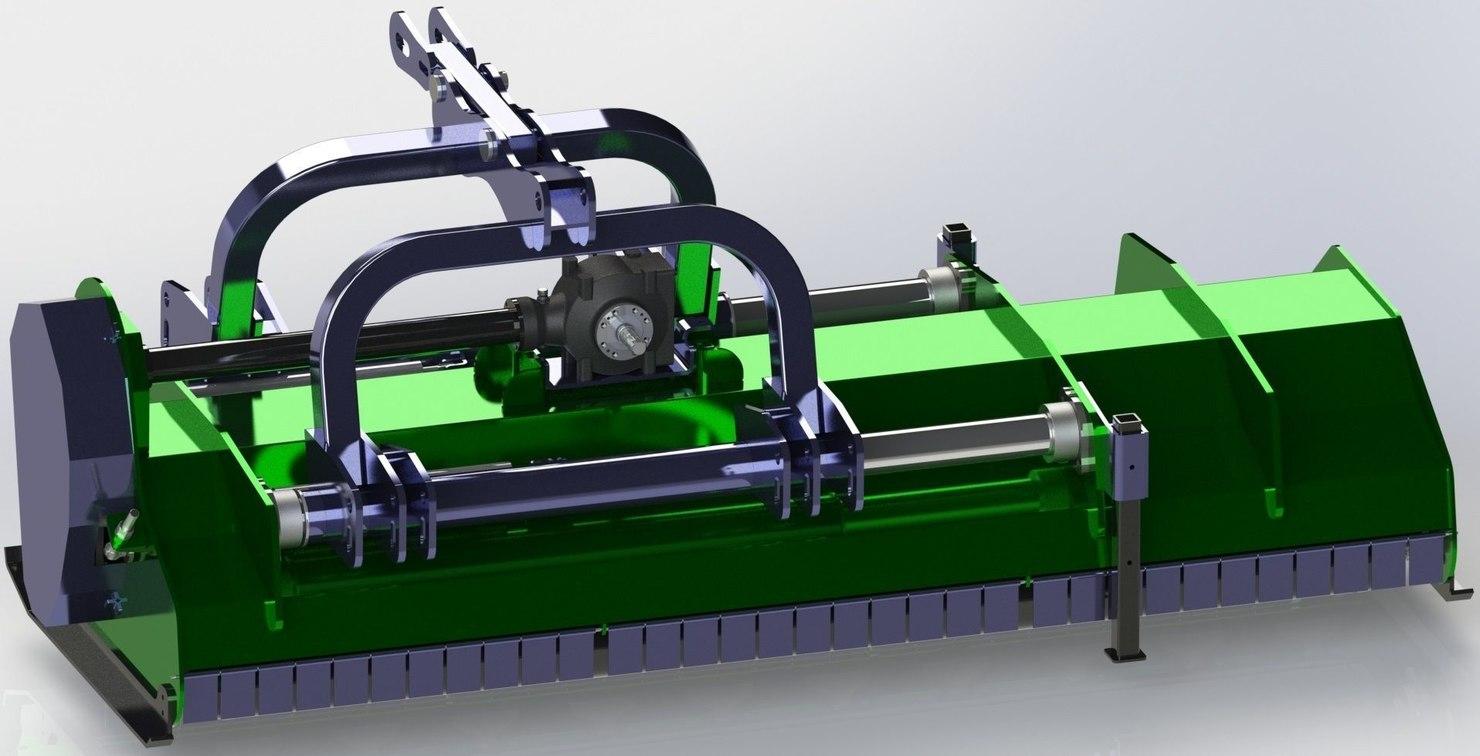 flail mower 3D model