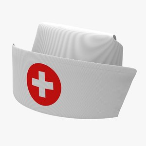 nannette nurse cap 3D