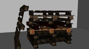 3D model palet sheep wood
