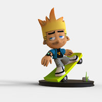 cartoon skate boy print 3D model