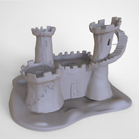 Fort Fantasy Castle 3D Print High Detail Model 3D print model