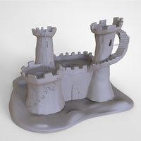 fort fantasy castle print 3D