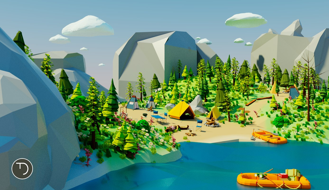 Low Poly Campament
