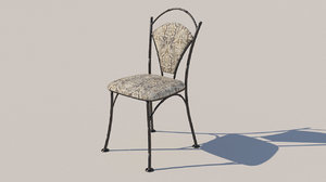 forged furniture chair model