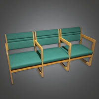 Chairs Waiting Room Hospital (HPL) - PBR Game Ready