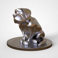 cleo dog print 3D model