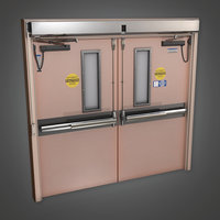 Hospital Door (HPL) - PBR Game Ready