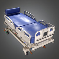 Hospital Bed 01 (HPL) - PBR Game Ready