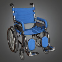 Wheel Chair (HPL) - PBR Game Ready