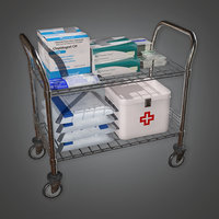 Hospital Supply Cart (HPL) - PBR Game Ready
