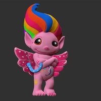 cartoon character rainbow zelph 3D model