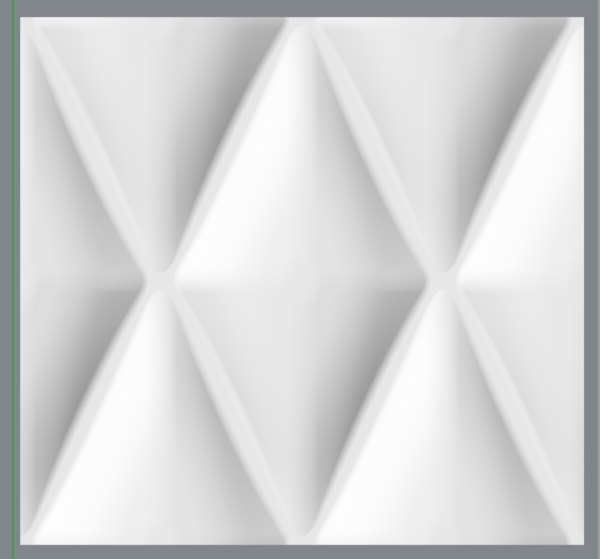 3D diamond curved wall tile