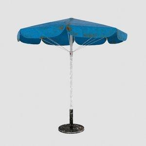 umbrella stand old 3D model