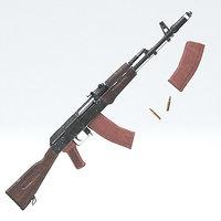 3D ak47 rifle gun