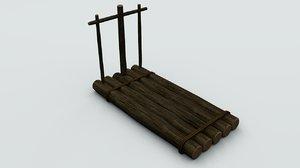 wood raft model
