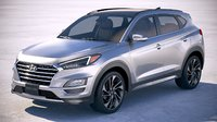 3D hyundai tucson 2018 model
