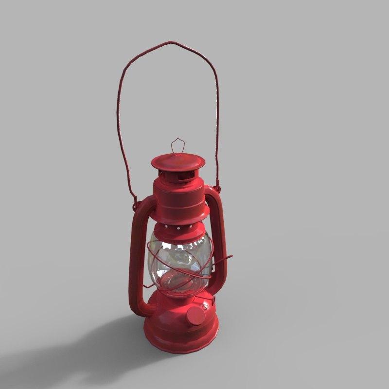 kerosene lantern 3D