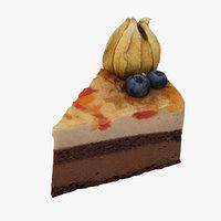 3D model cake realistic