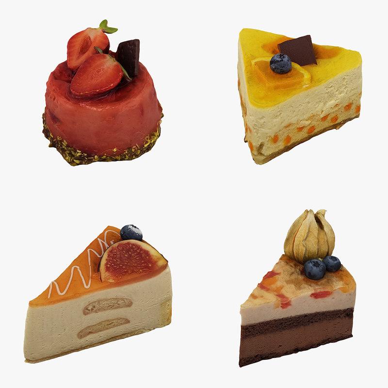 3D cakes realistic model