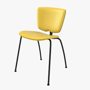 3D 2015 120 yellow chair