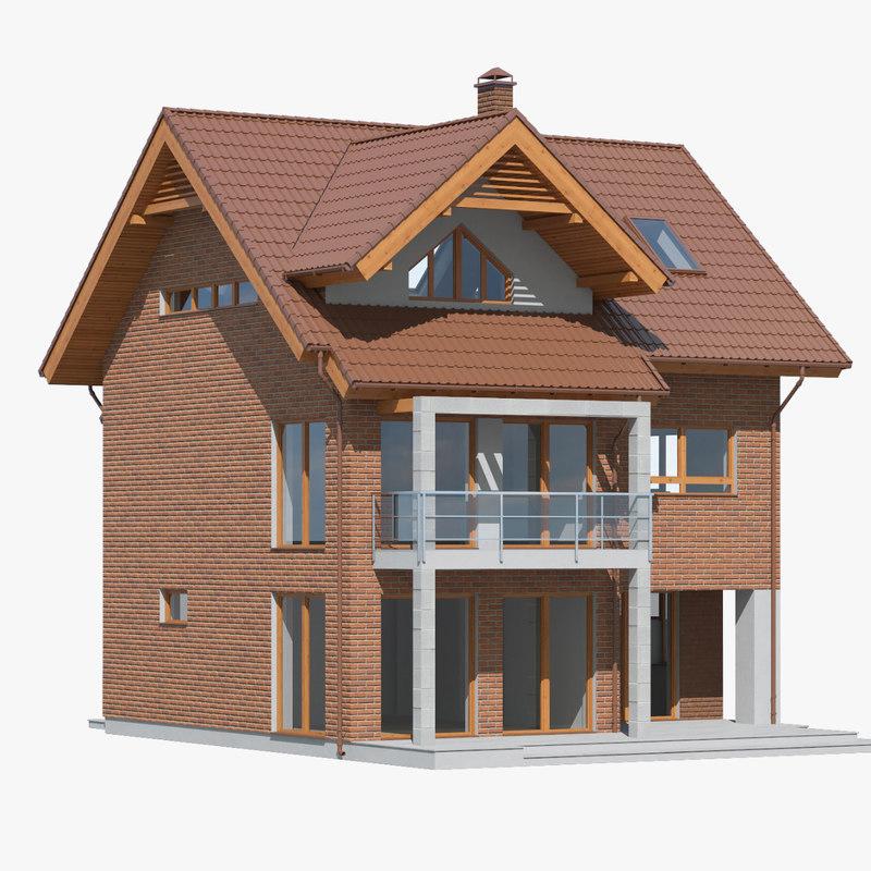 3D cottage model