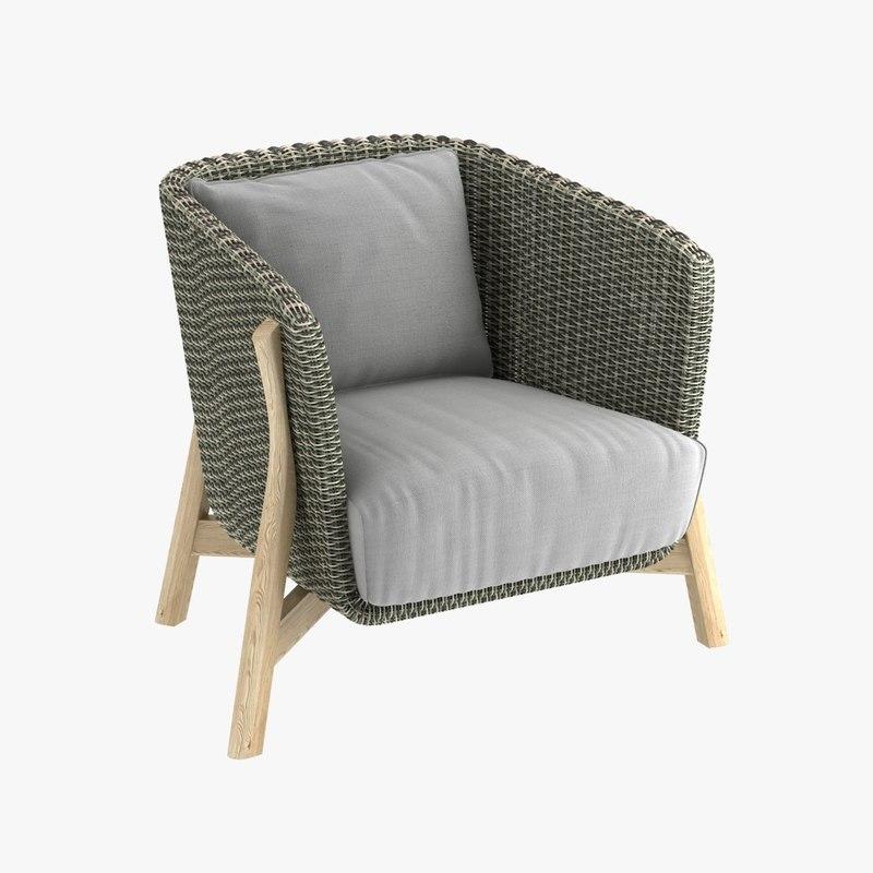 3D club armchair points
