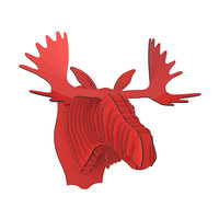 cardboardsafari moose elk head 3D