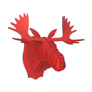 cardboardsafari moose elk head 3D
