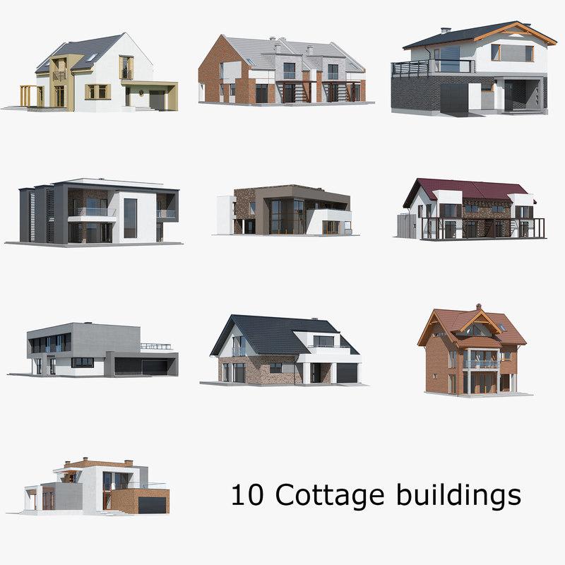 3D house building home model