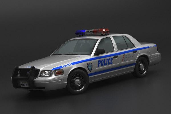 3D crown police model