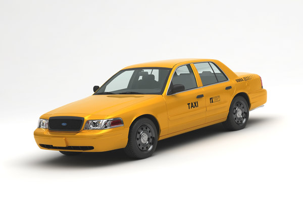 3D crown taxi model