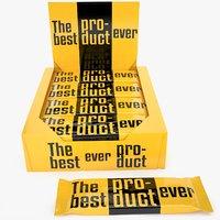 3D protein bar box mockup